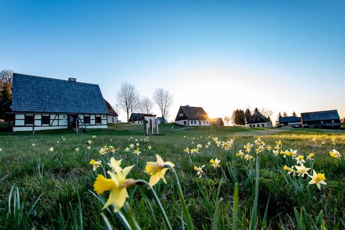 Freilichtmuseum Seiffen im Frühling